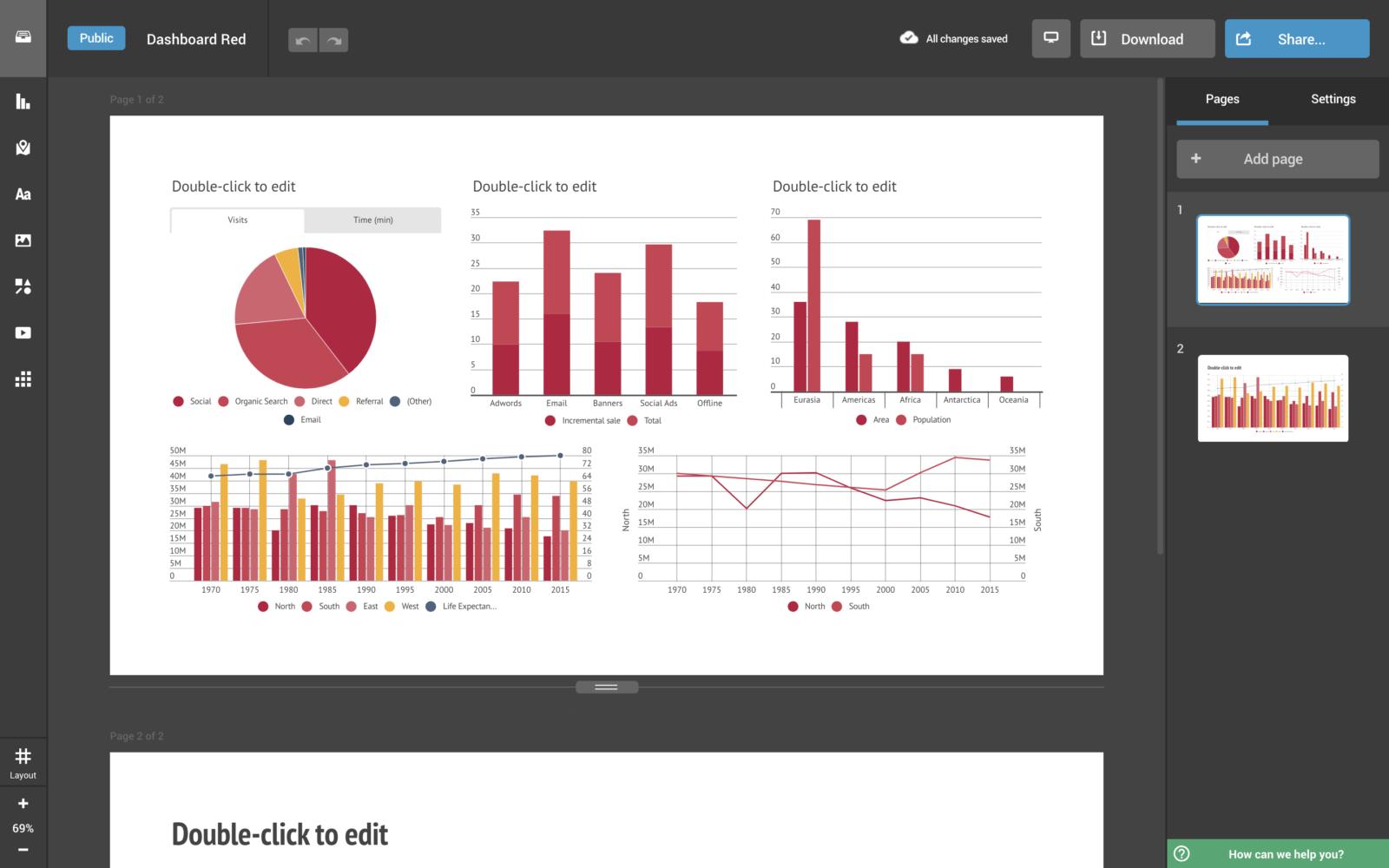 Примеры отчетов в infogram.com