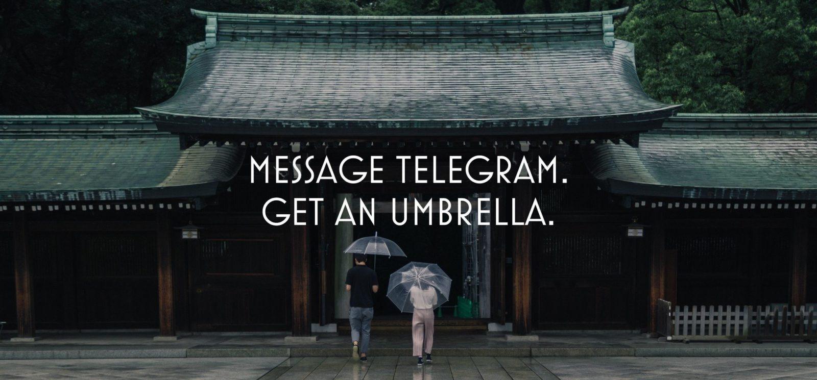 Get in umbrella