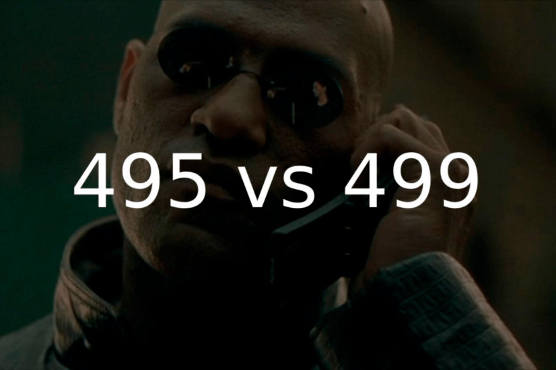 Номера 495 или 499 — что лучше и чем отличаются?