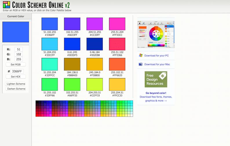 Онлайн схема, генерирующая цвет
