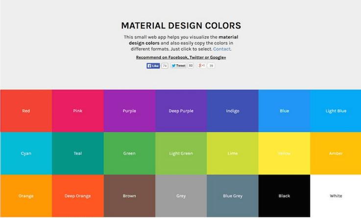 веб-приложение помогает визуализировать цвета дизайна и скопировать их в различных форматах