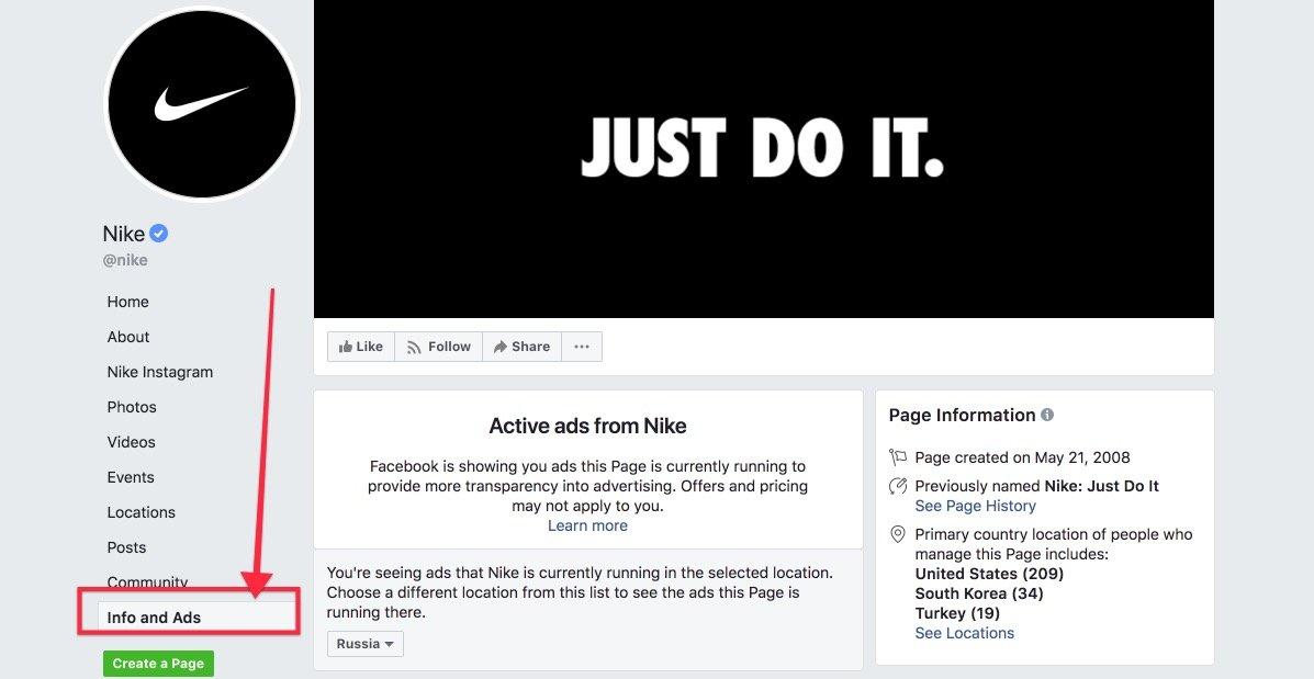 Анализ рекламы страницы в Фейсбук